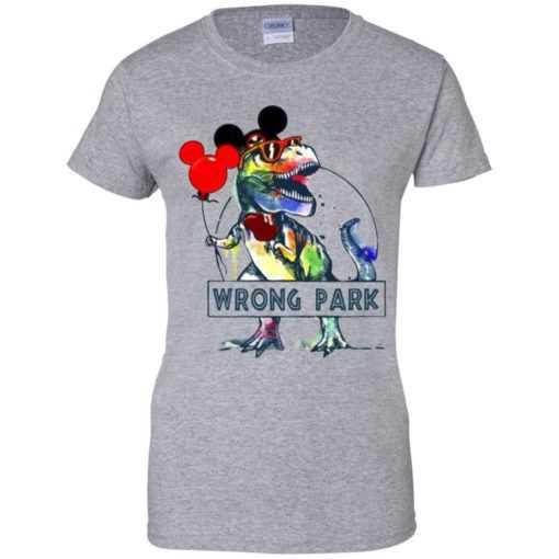 T-rex wrong park shirt, hoodie, ladies tee