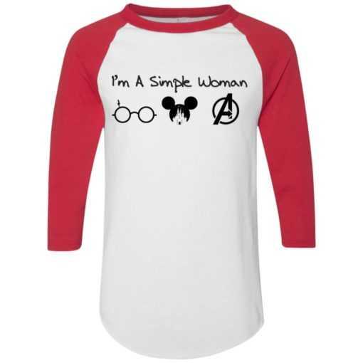 I'm a simple woman I like Harry Potter Disney and Avengers