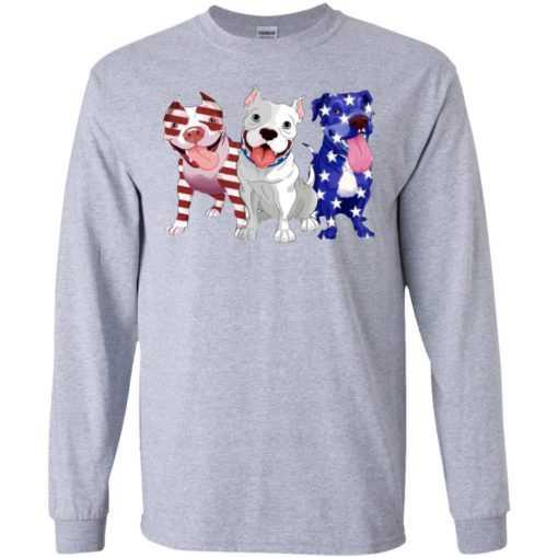 Three Pitbull America flag shirt