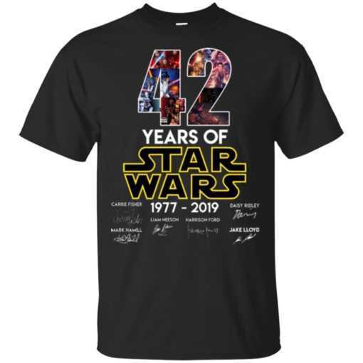 42 Years of Star wars 1977 - 2019 shirt