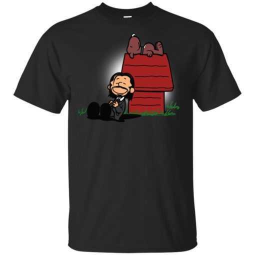Peanuts John Wick and Snoopy shirt