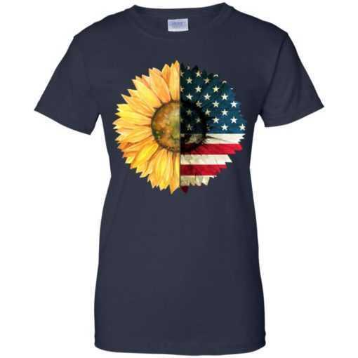 4th July sunflower America flag