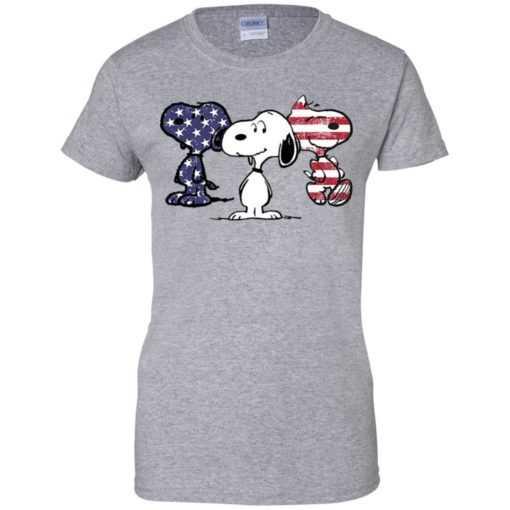 4th July Three snoopy American flag