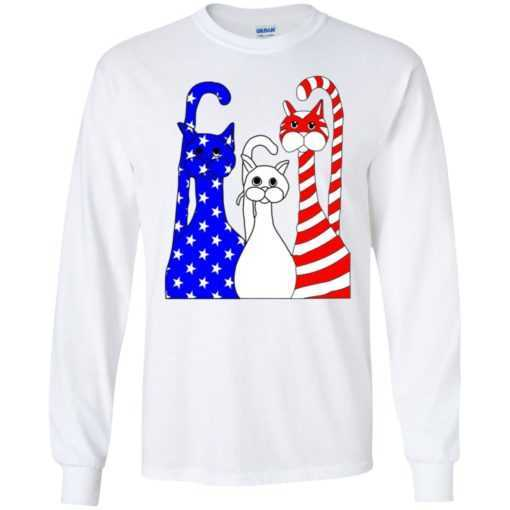 4th July Three cat American flag