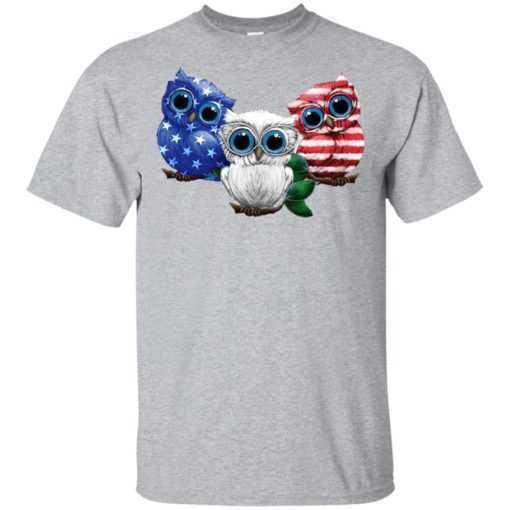 4th July Three Owl American flag