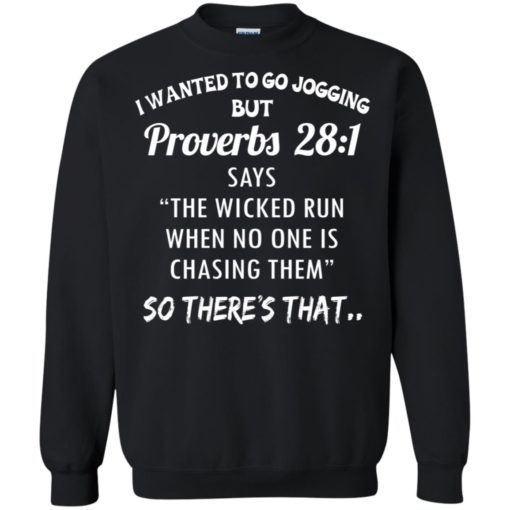 I wanted to go jogging but Proverbs 28