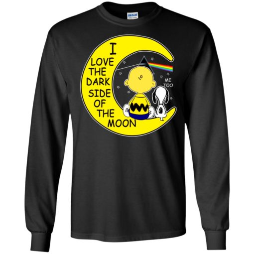 Snoopy and Charlie Brown I love the dark side of the moon
