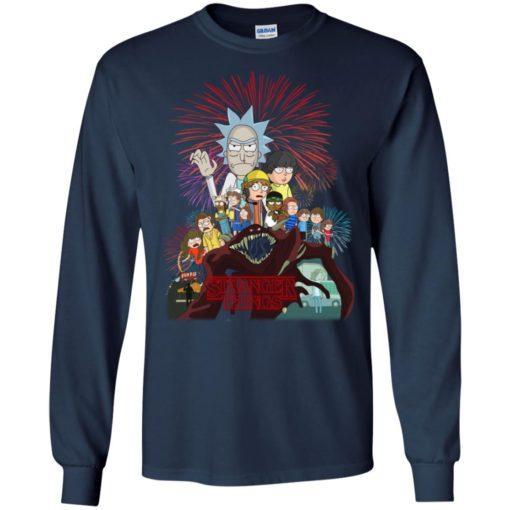 Stranger Things 3 Rick and Morty shirt