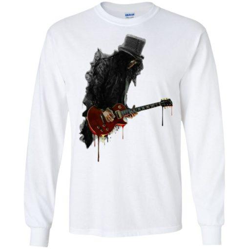 Slash plays guitar rock shirt