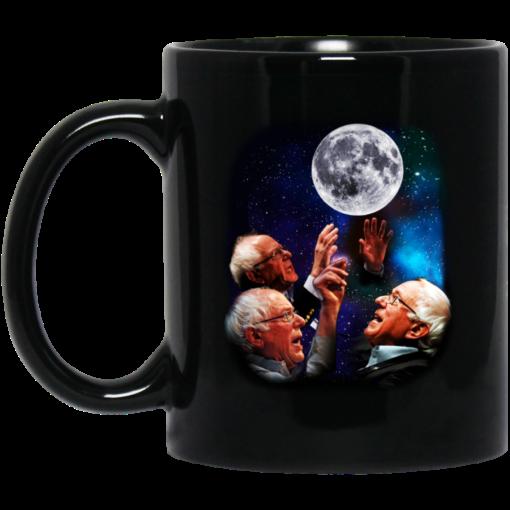 Three Bernie Sanders moon mug
