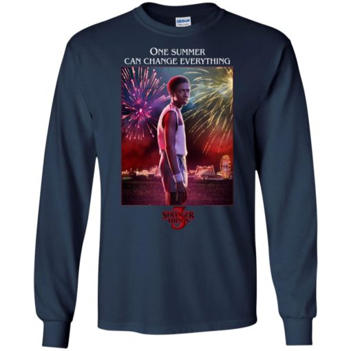 Lucas Stranger Things one summer can change everything shirt