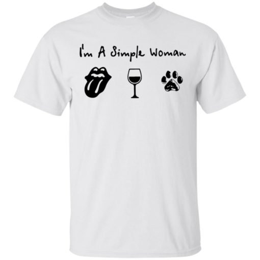 Simple women love rolling stones wine and dog
